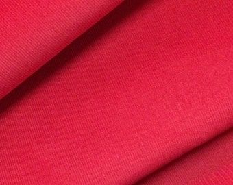 Corduroy Fabric / Red Corduroy Fabric / Cotton Corduroy Fabric / Christmas Red Corduroy / Fine Wale Corduroy / Light Weight Corduroy