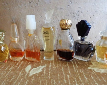Vintage Perfumes 9 Mini Chloe JM Extravagance Estee Lauder Passion Creation