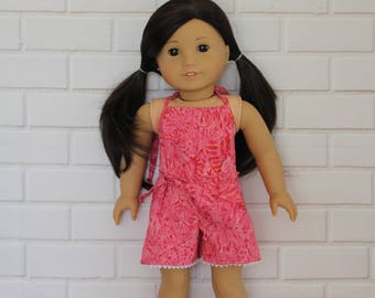 Hot Pink Batik Romper Doll Clothes to fit 18 inch dolls to 20 inch dolls such as American Girl & Australian Girl dolls