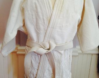 Vintage Japanese Kodokan Judo gi Top Judo Jacket / Women's or Young Adult JuJitsu Martial Arts Attire /