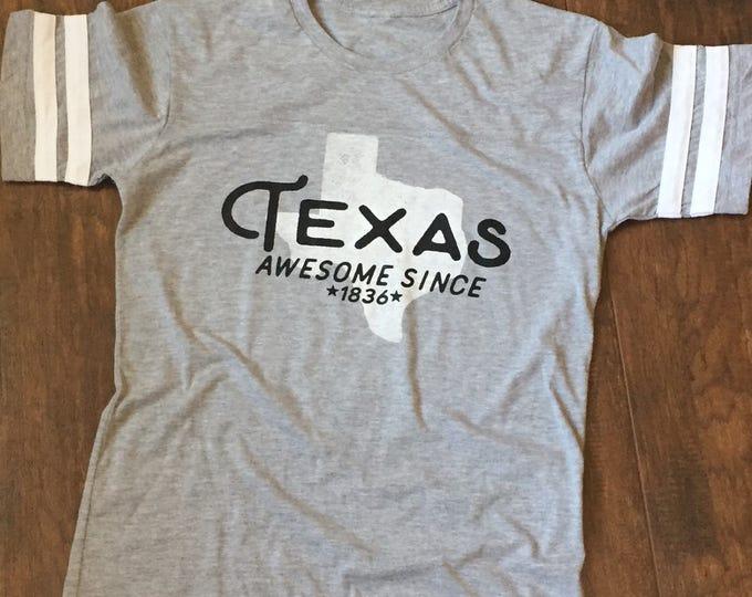 Texas, Awesome since 1836 football style tee