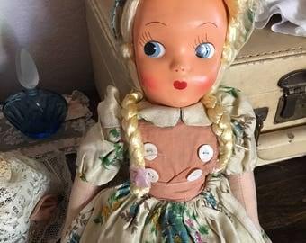1920s vintage poland doll/ vintage dolls/ mid century dolls