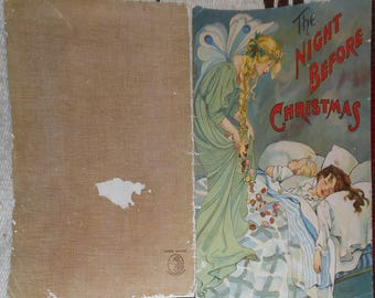 vintage mcloughlin bros night before christmas paper edition  ill ives noble ca 1901