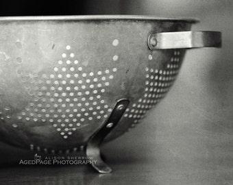 Rustic Photography, Farmhouse Country Kitchen Decor, Black & White Wall Art Print | 'Kitchen Star'