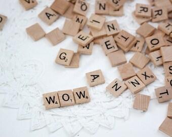 Lot of Vintage Scrabble Tiles