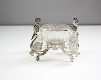 Godinger Silver Art Company Flower Frog and Candle Holder