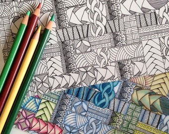 Woven Coloring Card, 5x7