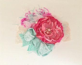 Meadows headband- Baby Girl Headband- baby Headband- Flower Girl Headband- Persnickety Headband- Photo Prop