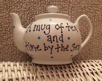 Personalised 5 cup teapots (with any message/name) - a gift for all tea lovers - thank you gift,Valentines, Mother's day, Wedding, New house