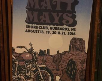 Matt Mays Gig Poster - August 18-22, 2016