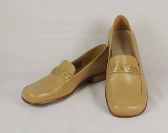 ENZO ANGIOLINI Women's Camel Leather Loafers US Size 7M