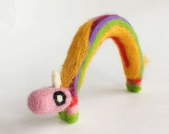 Lady Rainicorn Adventure Time Needle felted hand felted merino wool miniature collectable handmade felted art