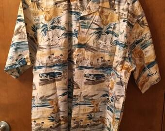 Men's shirt, Tropical cocktails.