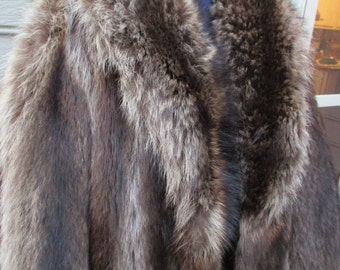 vintage full length raccoon coat worn once cold storage for 40 years