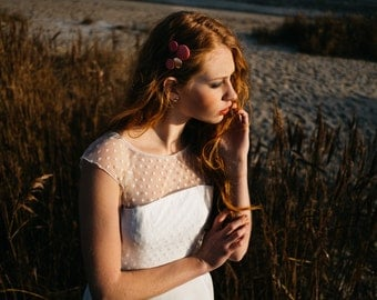 Bridal top of lace with dots