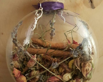 New Home Blessing Ornament Witch Ball Herbal Blessing Yule Decor House Protection
