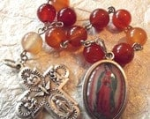 Our Lady of Guadalupe Orange Rosary Tenner