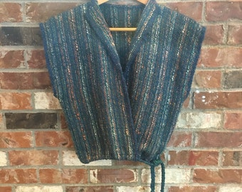 Lightweight Vintage Wrap Sweater