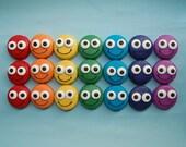 Custom order for Samantha RAINBOW OF SMILES Oreos smiley face