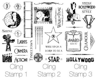 """Graphic 45 """"Vintage Hollywood"""" Stamp Set 1,2 and 3"""