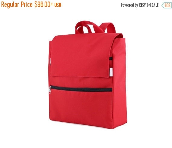 sale diaper bag backpack red hipster canvas by clementinabags. Black Bedroom Furniture Sets. Home Design Ideas