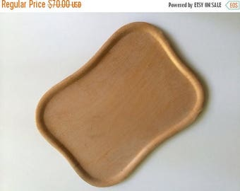 ON SALE Mid Century Soinne et Kni Birch Veneer Fincraft Tray