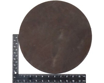 """12"""" Rounder Pre-Cut, Brown Drum Dyed Hermann Oak Leather Tooling Pieces # 100-"""