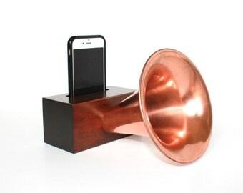 Edison Amp ~ Wood Gramophone Cell Phone Speaker ~ Wireless Wooden Speaker for iPhone ~ Groomsmen Gift ~ Unique Gift for Man