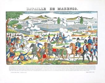Pellerin-Bataille De La Marengo-1912 Woodblock