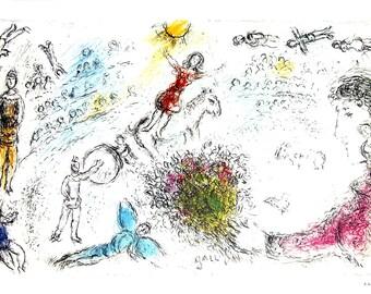 Marc Chagall-L'ame du Cirque-1981 Poster