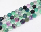 Natural Rainbow Fluorite Gemstone Round Beads 15.5'' 4mm 6mm 8mm 10mm 12mm 14mm Great For Jewelry Design
