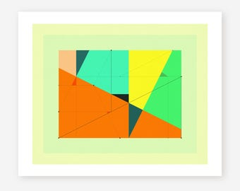 Giclée Fine art Print, Abstract, Geometric Artwork by Jazzberry Blue, DELINEATION (114)