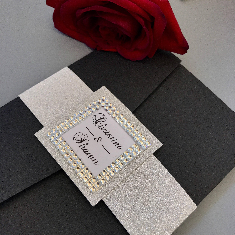Black Tie Wedding Invitation Wording: Black Tie Wedding Invitation Gala Wedding Invitation Black