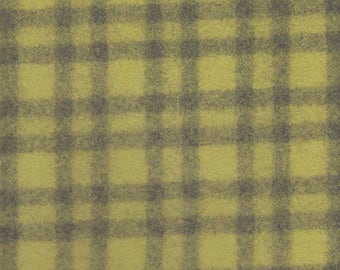 1.125 Yards Camira Upholstery Fabric Blazer Check Wool Kiwi Green and Grey (FF28)