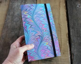 Handmade Blank Book - Notebook, Travel Journal, Art Journal - Hand-Marbled Paperback Cover - item #7999