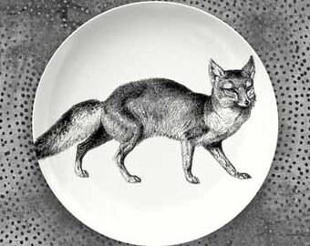 Fox plate melamine dinnerware