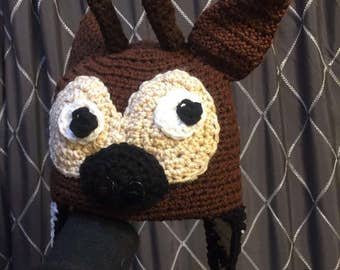 Crocheted Okapi Hat