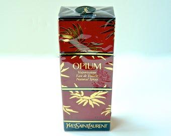 Vintage OPIUM Yves Saint Laurent Perfume Eau due Toilette 50 ml (1.6 oz) Original in Sealed Box Includes Mini Sample