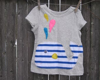 Whale of a tale Girls t shirt Ready to SHIP 4T