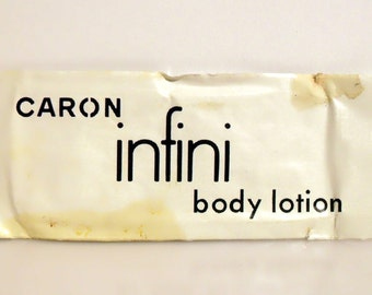 Vintage 1970s Infini by Caron Perfumed Body Lotion Sample Packet