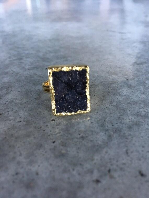 Crystal Druzy Quartz Rings, Druzy Jewelry