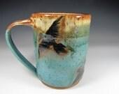 stoneware pottery mugs, crow mug large mug ceramic mug, mugs, green mugs, handmade mugs, cups, cup, coffee mugs, coffee cup, tea cups