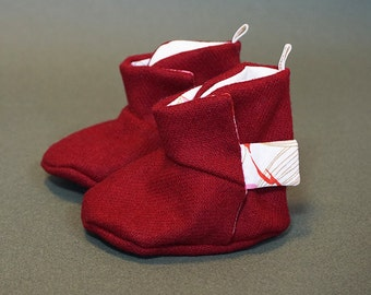 Oppi Baby Boots - A splash of pink boots