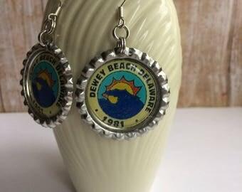 Dewey Beach Delaware Earrings, Dewey Beach Delaware Jewelry, Dewey Beach Jewelry, Dewey Beach Nautical Beach Earrings, Dewey Beach Earrings