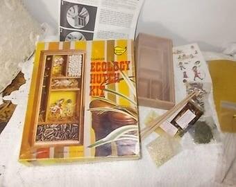Ecology Hutch Kit, Vintage Ecology Hutch Kit 1973, Vintage Craft Kit,  Sunshine Crafts, Vintage Home Decor,Never Used Craft Kit