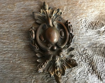 French Bronze Picture Hook Cover, Home Decor Accent, Wall Medallion, French Chateau Chic