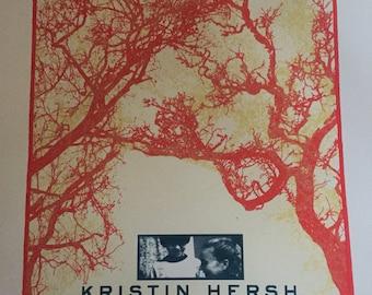 Kristin Hersh - Throwing Muses UK screen printed gig poster.