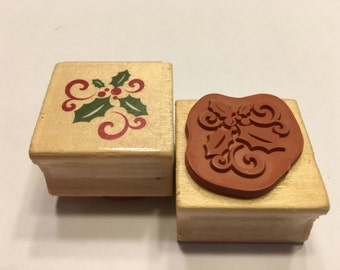 Holly rubber stamp, 25 mm (BR120)