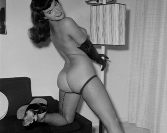 Beautiful Vintage Lingerie Pin Up Model Betty Page ******* Both Prints For One Money******