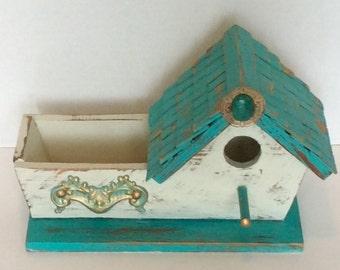 Vintage Decorative Birdhouse Planter/Box